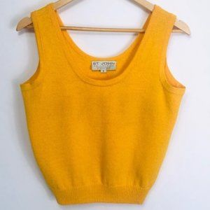 St. John marigold sleeveless knit blouse, Size S